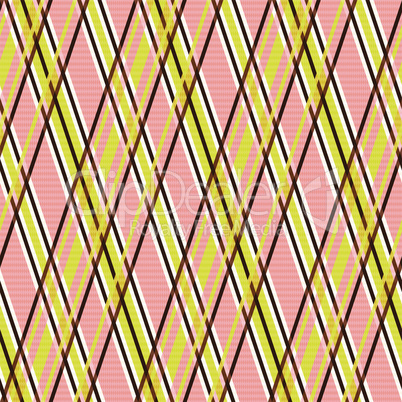 Seamless pattern in yellow and terracotta hues