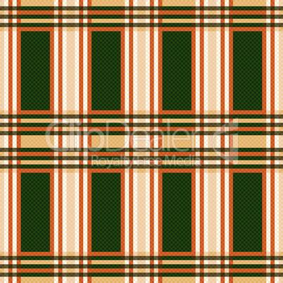 Seamless rectangular pattern in orange and green