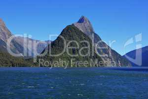 Mitre Peak, mountain in the Milford Sound