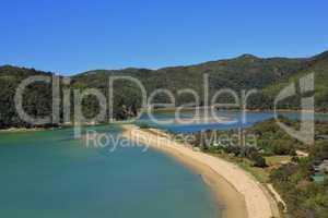 Beautiful landscape in the Abel Tasman National Park