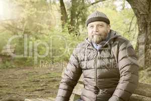 bearded man winter jacket