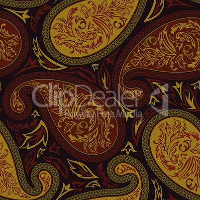 Oriental paisley seamless pattern