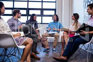 Hipsters doing a meeting