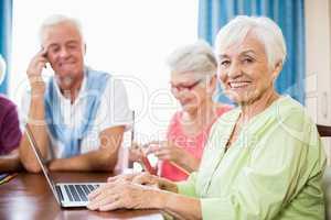 Seniors spending time together