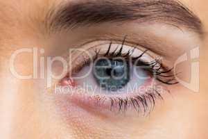 Focus on womans eyes