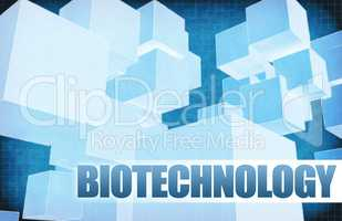 Biotechnology on Futuristic Abstract