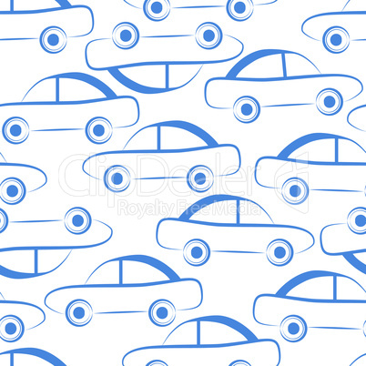 Car transport seamless vector background