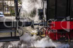 STEAM LOCOMOTIVE AND COACH