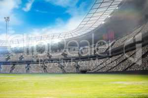 Composite image of a stadium