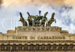 Quadriga upon Corte di cassazione, the Supreme Court of Cassation, Rome, Italy
