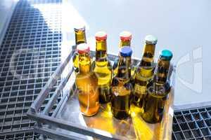 Sealed beer bottle in carte