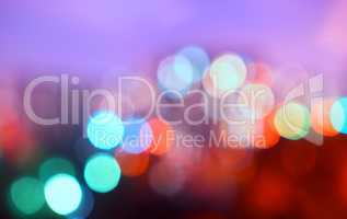 Horizontal warm night city bokeh background
