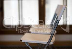 Horizontal office chairs bokeh background