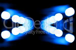 Horizontal huge blue blobs bokeh background