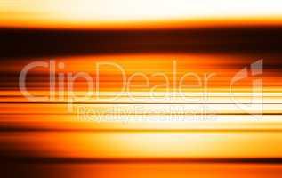 Horizontal orange sea motion blur illustration background