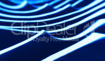 Horizontal vivid blue abstract tidal waves background backdrop