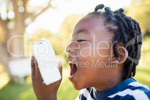 Child using asthma object