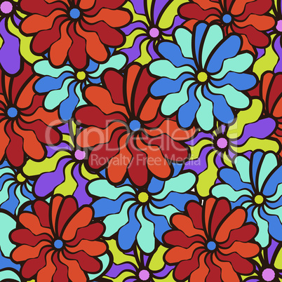 floral background. field of multi colored bright summer colors for the background