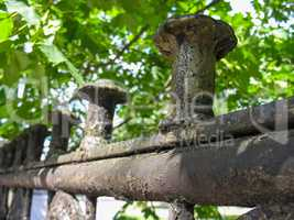 Old cast iron fence
