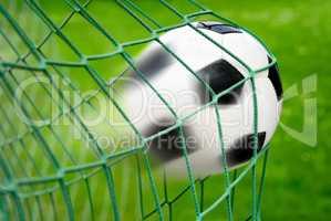 Fußball Tor, mit dynamisch effektvoller Bewegungsunschärfe