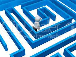 Confused Maze Indicates Decision Making And Adversity 3d Renderi