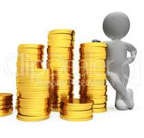 Savings Finance Represents Wealth Finances And Accounting 3d Ren
