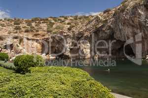 Vouliagmeni, Thermal Radonic Mineral Water Lake near Athen, Greece photo