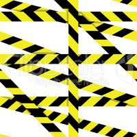 Vector seamless pattern: Entrance prohibited background seamless yellow warning caution ribbon tape vector on white background