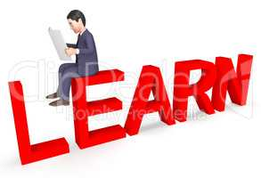 Character Businessman Represents Learned Learn And Development 3