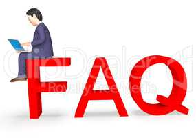 Faq Character Represents Frequently Asked Questions And Advice 3