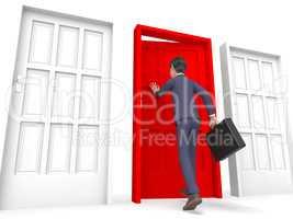 Businessman Office Means Entrepreneur Character And Entrepreneur