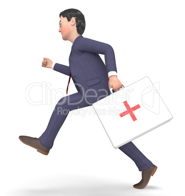 First Aid Indicates General Practitioner And Accident 3d Renderi