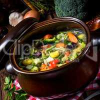 light vegetable soup