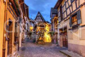 Rempart-sud street in Eguisheim, Alsace, France