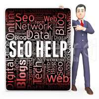 Seo Help Indicates Search Engine And Assistance