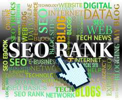 Seo Rank Represents Search Engines And Marketing