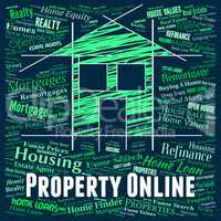 Property Online Means Web Site And Apartments