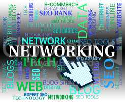 Networking Word Means Web Site And Computing