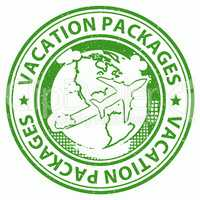 Vacation Packages Indicates Tour Operator And Holiday