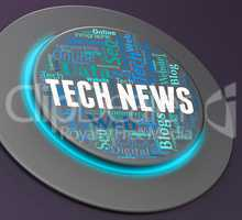 Tech News Represents Push Button And Digital