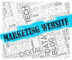 Marketing Website Represents Email Lists And Advertising