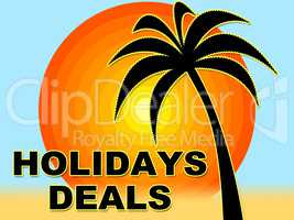 Holiday Deals Means Save Bargains And Offers