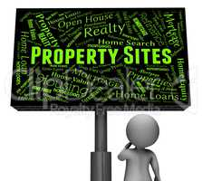 Property Sites Indicates Signboard Internet And Residence