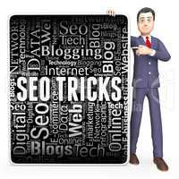 Seo Tricks Shows Search Engine And Board