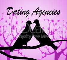 Dating Agencies Means Network Internet And Romance