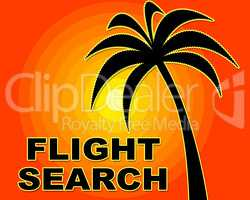Flight Search Shows Information Aircraft And Searching