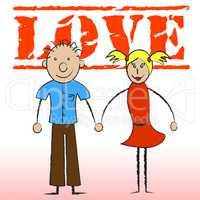 Love Couple Indicates Devotion Romance And Passion