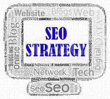 Seo Strategy Represents Search Computing And Internet