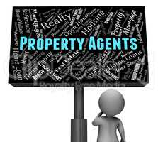 Property Agents Indicates Real Estate And Homes