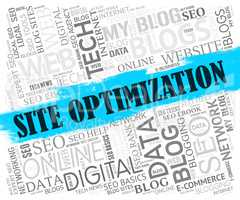 Site Optimization Represents Seo Website And Web